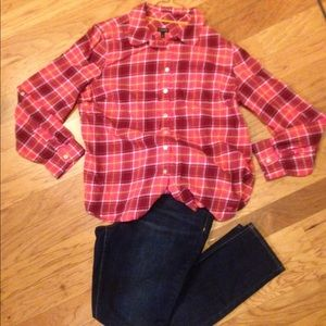 Talbots Plaid Button-down Shirt